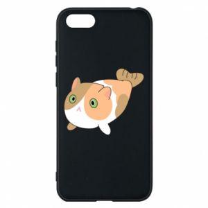 Phone case for Huawei Y5 2018 Red cat mermaid - PrintSalon
