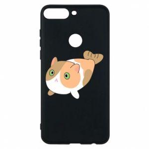 Phone case for Huawei Y7 Prime 2018 Red cat mermaid - PrintSalon