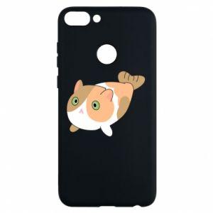 Phone case for Huawei P Smart Red cat mermaid - PrintSalon
