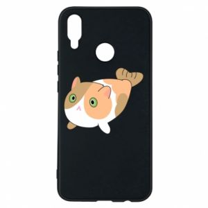 Phone case for Huawei P Smart Plus Red cat mermaid - PrintSalon