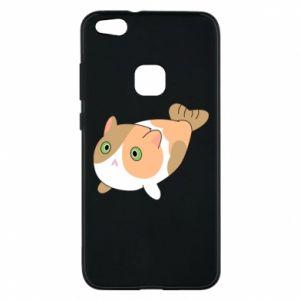 Phone case for Huawei P10 Lite Red cat mermaid - PrintSalon