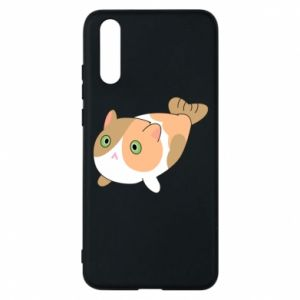 Phone case for Huawei P20 Red cat mermaid - PrintSalon