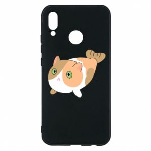 Phone case for Huawei P20 Lite Red cat mermaid - PrintSalon