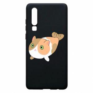 Phone case for Huawei P30 Red cat mermaid - PrintSalon