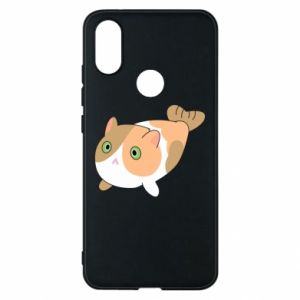 Phone case for Xiaomi Mi A2 Red cat mermaid - PrintSalon