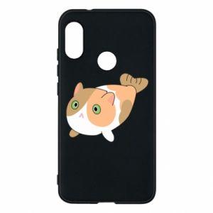 Phone case for Mi A2 Lite Red cat mermaid - PrintSalon