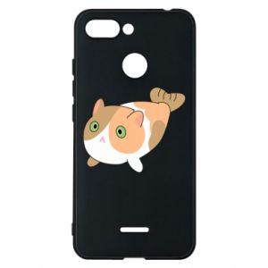 Phone case for Xiaomi Redmi 6 Red cat mermaid - PrintSalon