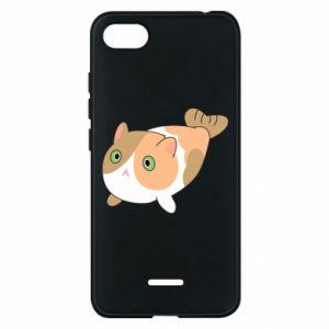 Phone case for Xiaomi Redmi 6A Red cat mermaid - PrintSalon