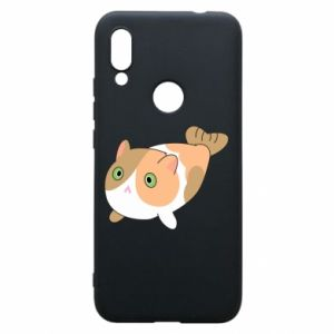 Phone case for Xiaomi Redmi 7 Red cat mermaid - PrintSalon