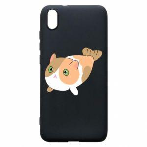 Phone case for Xiaomi Redmi 7A Red cat mermaid - PrintSalon