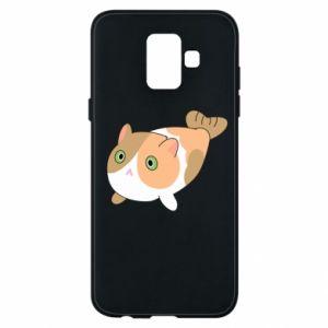 Phone case for Samsung A6 2018 Red cat mermaid - PrintSalon