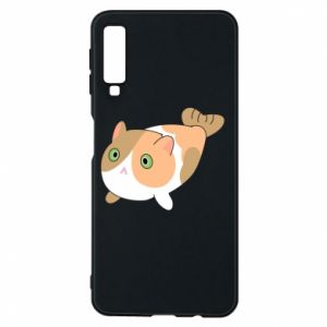 Phone case for Samsung A7 2018 Red cat mermaid - PrintSalon