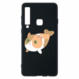 Phone case for Samsung A9 2018 Red cat mermaid - PrintSalon