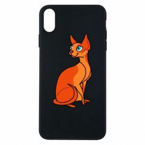 Etui na iPhone Xs Max Red eared cat