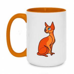 Kubek dwukolorowy 450ml Red eared cat