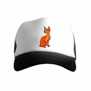 Czapka trucker dziecięca Red eared cat