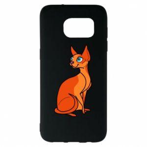 Etui na Samsung S7 EDGE Red eared cat