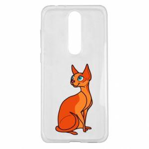 Etui na Nokia 5.1 Plus Red eared cat