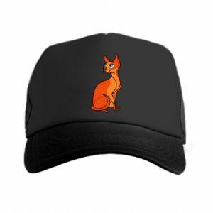Czapka trucker Red eared cat - PrintSalon