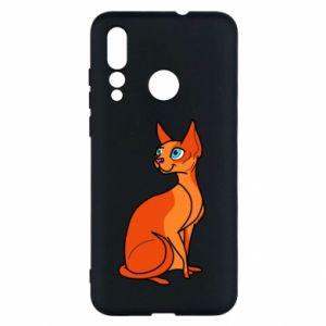 Etui na Huawei Nova 4 Red eared cat