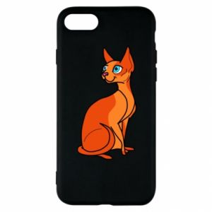Etui na iPhone SE 2020 Red eared cat
