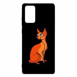 Etui na Samsung Note 20 Red eared cat