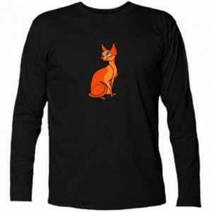 Koszulka z długim rękawem Red eared cat - PrintSalon