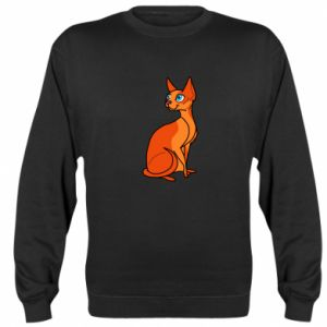 Bluza (raglan) Red eared cat - PrintSalon