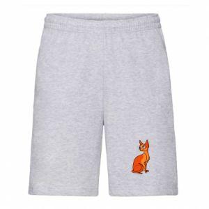 Męskie szorty Red eared cat - PrintSalon