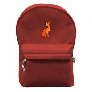 Plecak z przednią kieszenią Red eared cat - PrintSalon