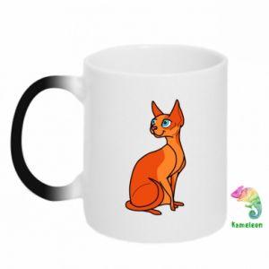 Kubek-kameleon Red eared cat - PrintSalon