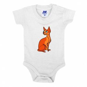 Body dla dzieci Red eared cat - PrintSalon