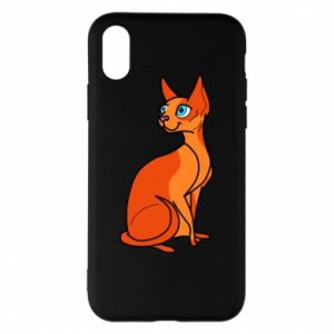 Etui na iPhone X/Xs Red eared cat