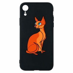 Etui na iPhone XR Red eared cat