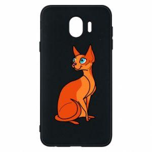 Etui na Samsung J4 Red eared cat