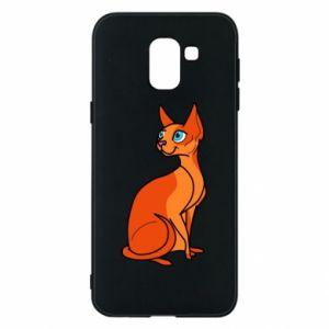 Etui na Samsung J6 Red eared cat