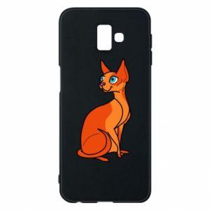 Etui na Samsung J6 Plus 2018 Red eared cat