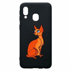 Etui na Samsung A40 Red eared cat