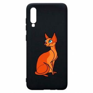 Etui na Samsung A70 Red eared cat