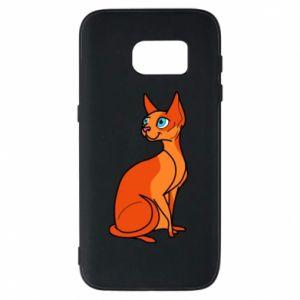 Etui na Samsung S7 Red eared cat