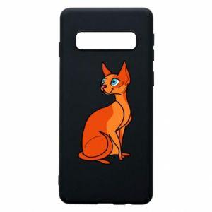 Etui na Samsung S10 Red eared cat
