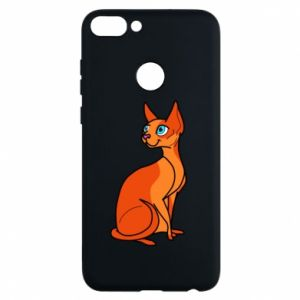 Phone case for Huawei P Smart Red eared cat