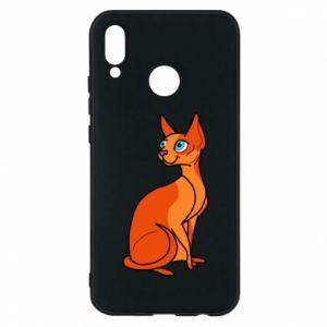 Etui na Huawei P20 Lite Red eared cat