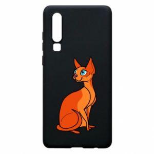 Etui na Huawei P30 Red eared cat