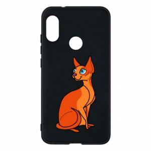 Etui na Mi A2 Lite Red eared cat