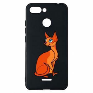 Etui na Xiaomi Redmi 6 Red eared cat