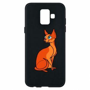 Etui na Samsung A6 2018 Red eared cat