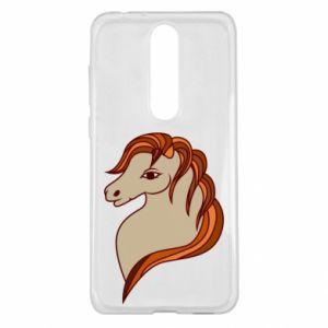 Etui na Nokia 5.1 Plus Red horse