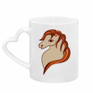 Kubek z uchwytem w kształcie serca Red horse