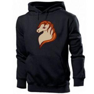 Men's hoodie Red horse